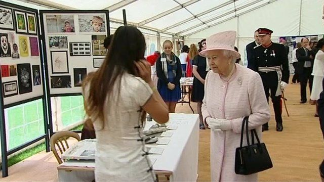 The Queen visits Atlantic College in the Vale of Glamorgan