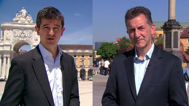 Chris Morris and Matthew Price report from Warsaw and Lisbon