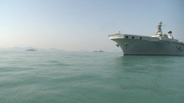 Boats take part in sunken ferry rescue operation