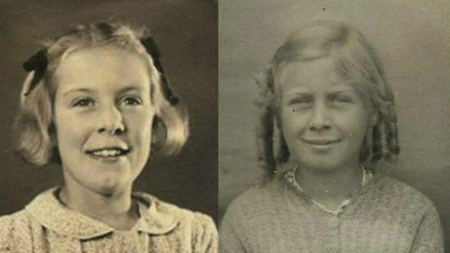 Twins sisters Ann and Elizabeth
