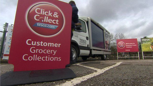 A click and collect sign