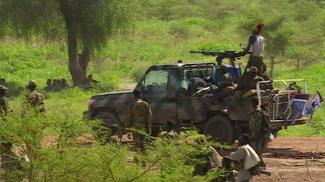 Rebels in Bentiu, South Sudan
