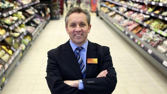 Justin King in Sainsbury's supermarket