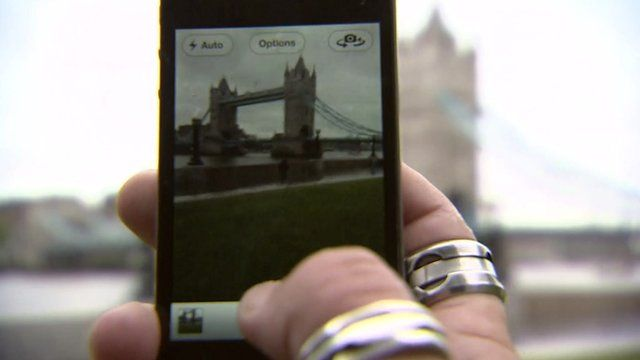 Taking a photograph of Tower Bridge