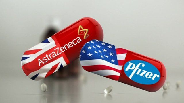 AstraZeneca and Pfizer pills