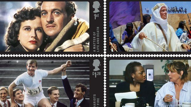 Stamps featuring British films
