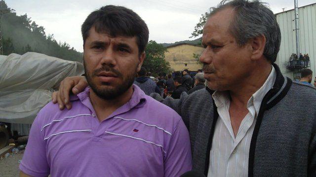 Turkish miner Yasin and his father Ali