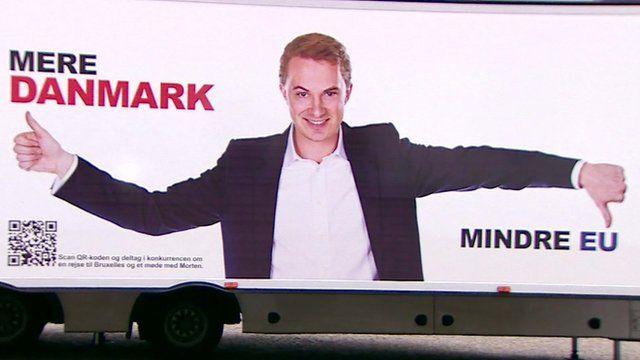 Election poster in Denmark