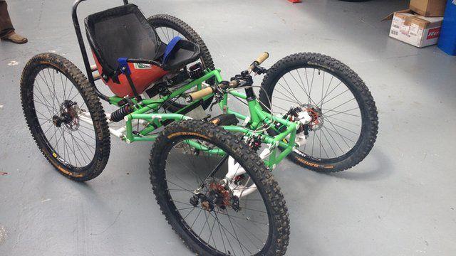 four-wheeled mountain bike