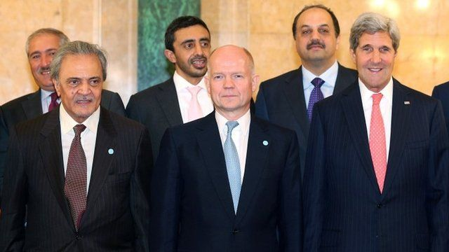 Members of the Friends of Syria core group in October 2013