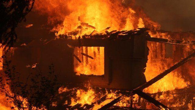 Property burning