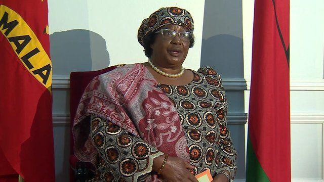 Malawi's outgoing president Joyce Banda
