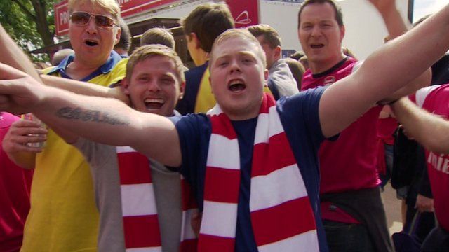 Arsenal fans at Wembley