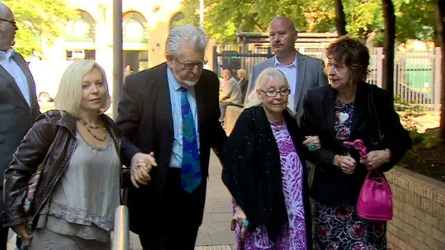 Rolf Harris outside court