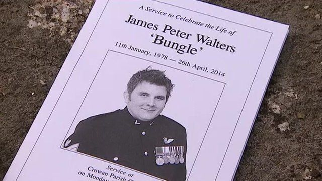 The funeral took place at Crowan near Camborne