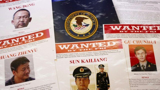 Wanted posters of Chinese army officers