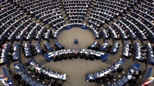 The European Parliament, in Strasbourg, eastern France