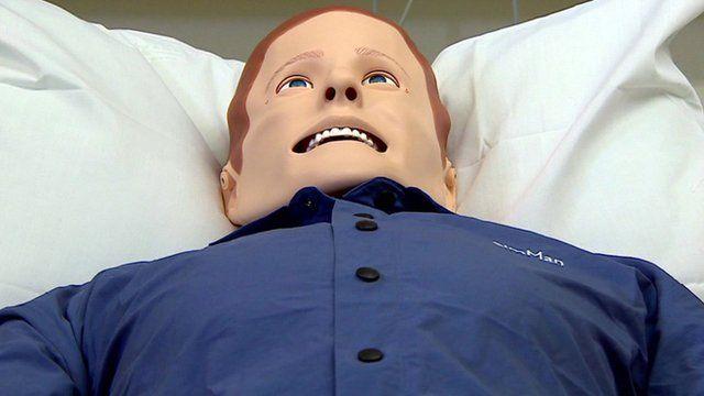 A medical simulation mannequin