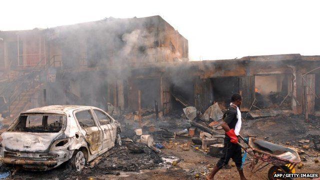 Scene of explosion in Jos