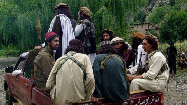 Pakistani Taliban in South Waziristan in August 2012
