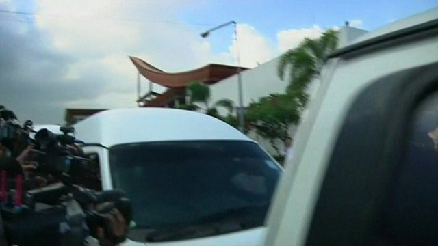 Footage shows the moment political party leaders are driven away from talks following a military coup d'etat.