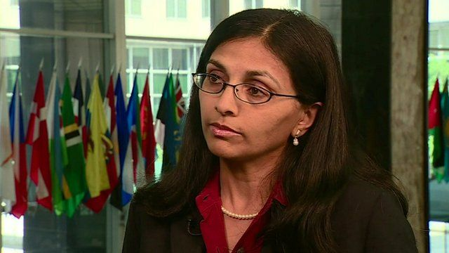 The US State Department's Assistant Secretary on South and Central Asian Affairs, Nisha Desai Biswal