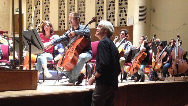 Stewart Copeland at orchestra