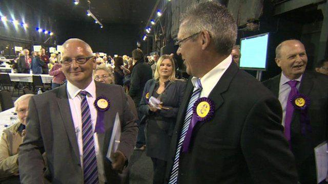 UKIP candidates celebrating their win