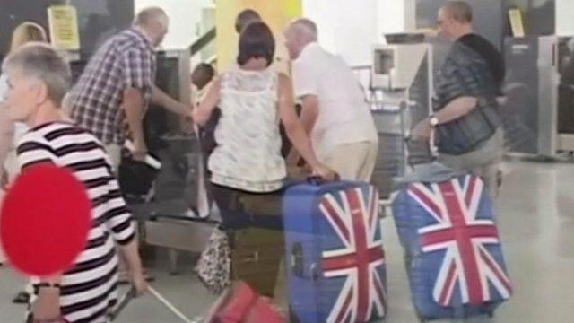 Tourists leaving Kenya