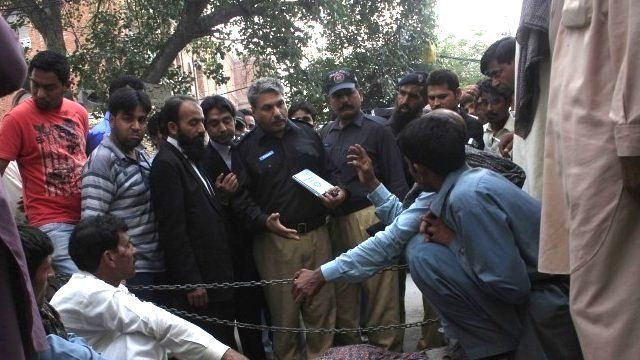 Police outside Lahore High Court