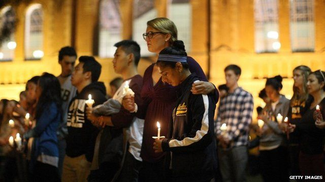 Vigil Held At UCLA for Santa Barbara shooting rampage victims