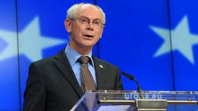 European Council President Herman Van Rompuy addresses the media in Brussels - 27 May 2014