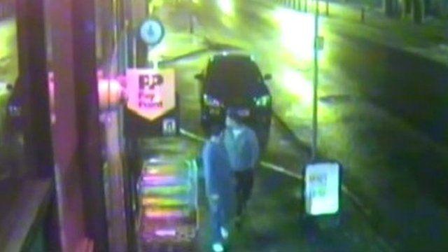 CCTV footage of men