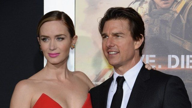 Emily Blunt and Tom Cruise in New York