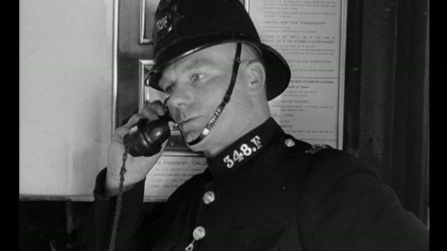 A policeman in one of the short films