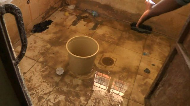 Toilet in Libya jail