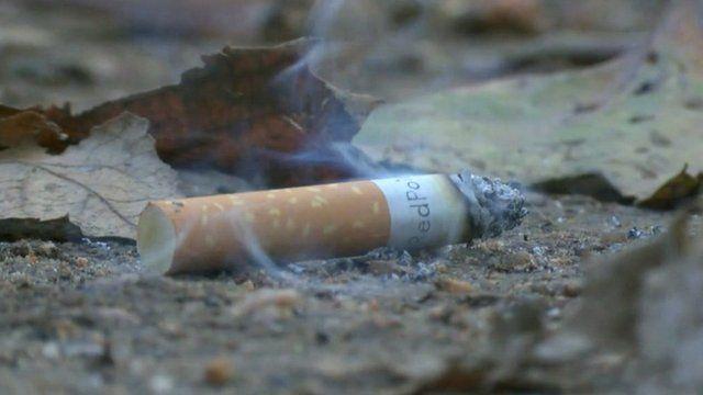 Cigarette end