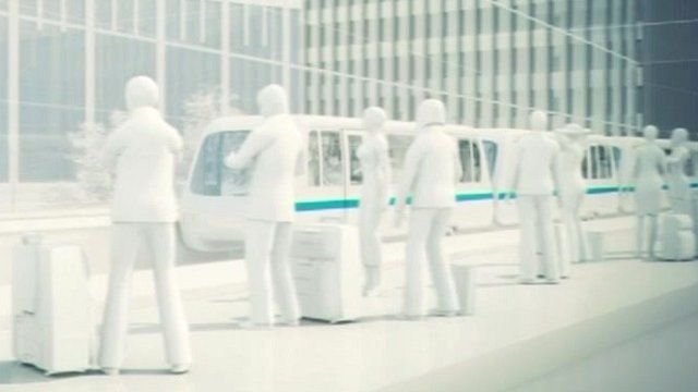 CGI of Gatwick's planned transport links