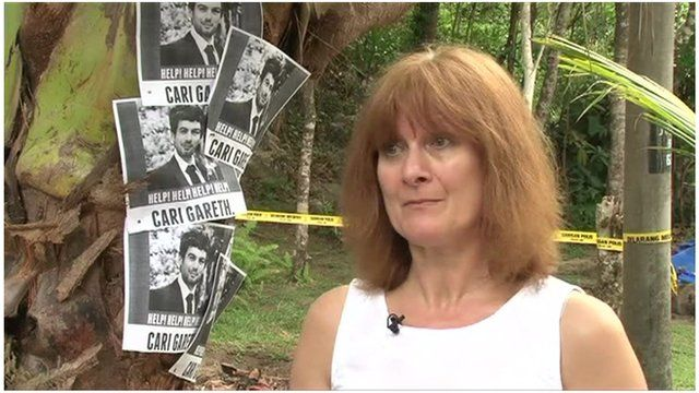 Janet Southwell is in Malaysia to help in the search for her son