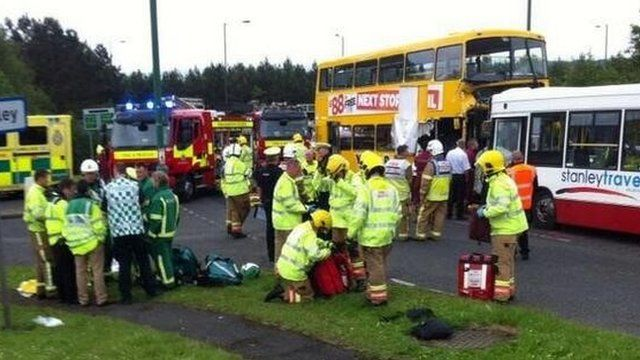 Scene of Stanley bus crash