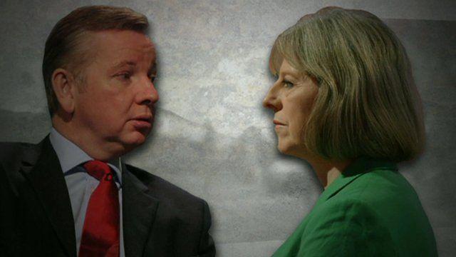 Michael Gove and Theresa May