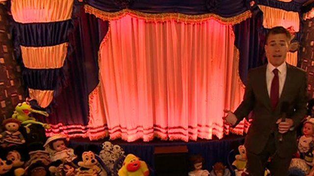 Tom Brown in shed cinema