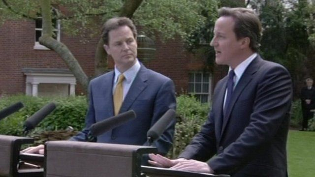 Nick Clegg and David Cameron in 2010