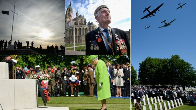 Images from D-Day memorials
