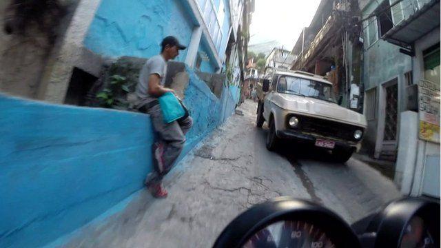Moto-taxi ride through Rocinha