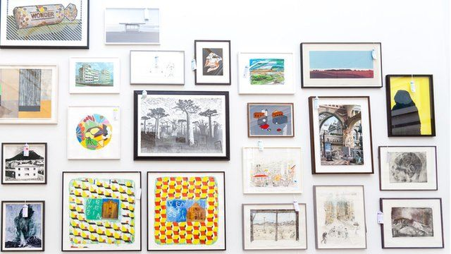 Work, including 3 pieces by Prof Chris Orr, at the Royal Academy's summer exhibition