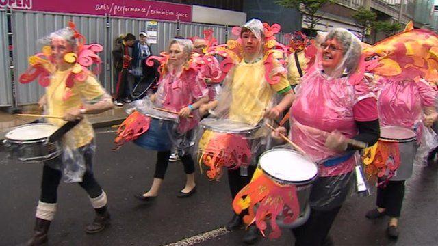 Drummers at Middlesbrough Mela