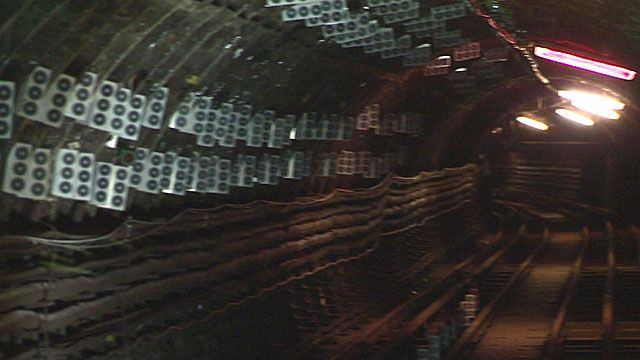 Sensors in an old tunnel beneath London
