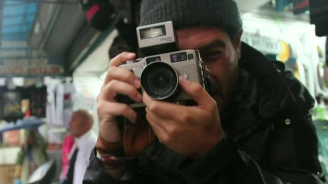 Chris Arnold taking a picture