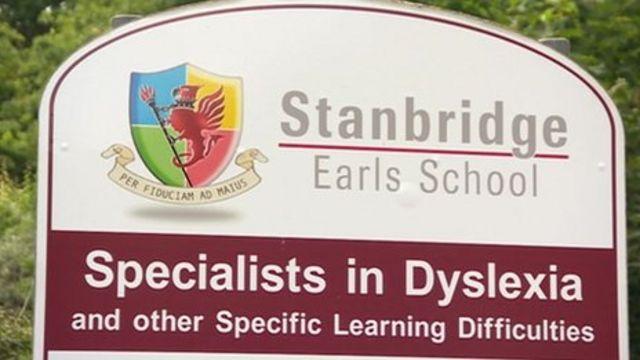 Stanbridge Earls School sign